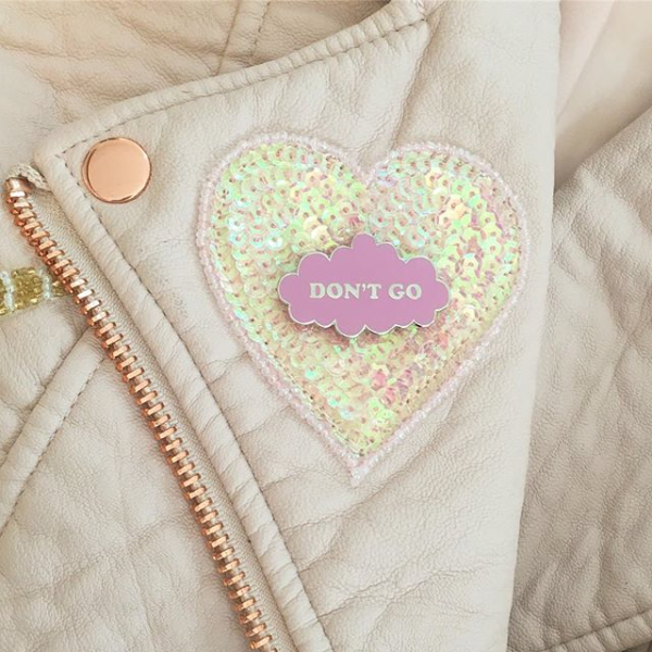 Don't Go Pink Enamel Pin