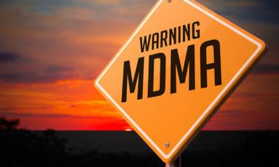 Sign with Warning MDMA