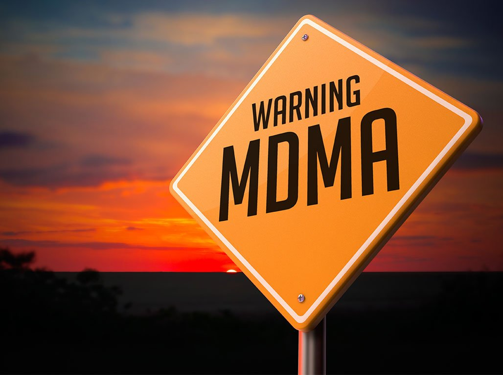 Sign with Warning MDMA