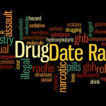 Word Graphic Showing Date Rape Drug