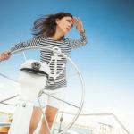 Woman capitan on boat