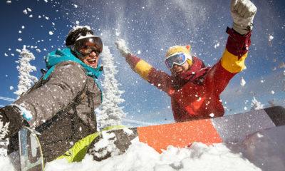 Teens find natural high snowboarding