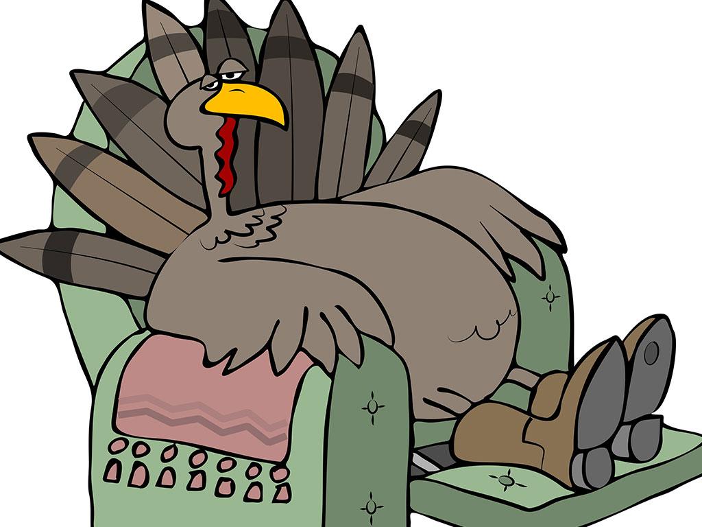 Turkey in recliner