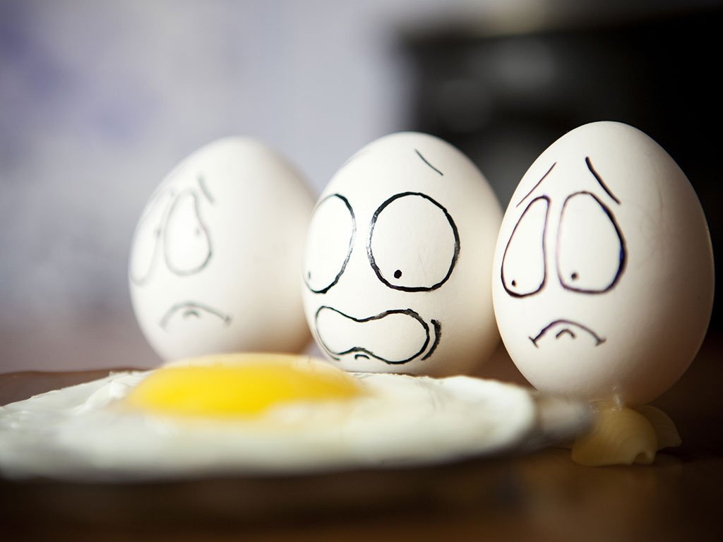 Eggs that are scared