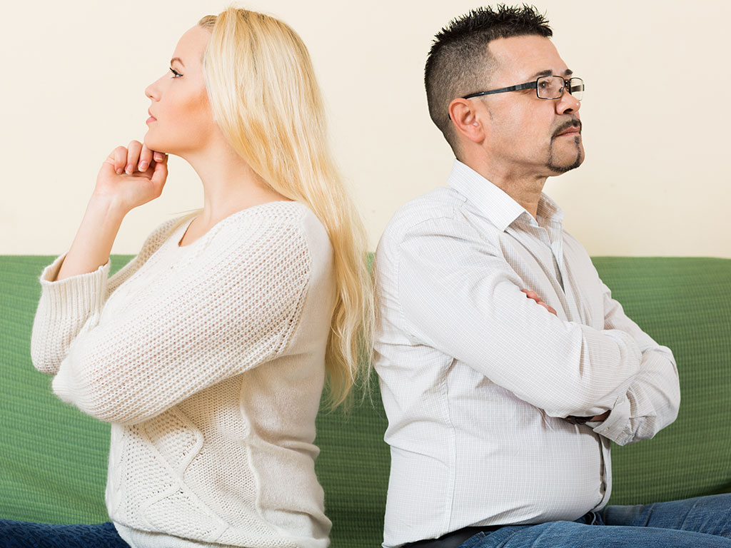 Couple struggling with forgiveness