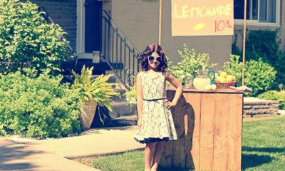Girl selling lemonade