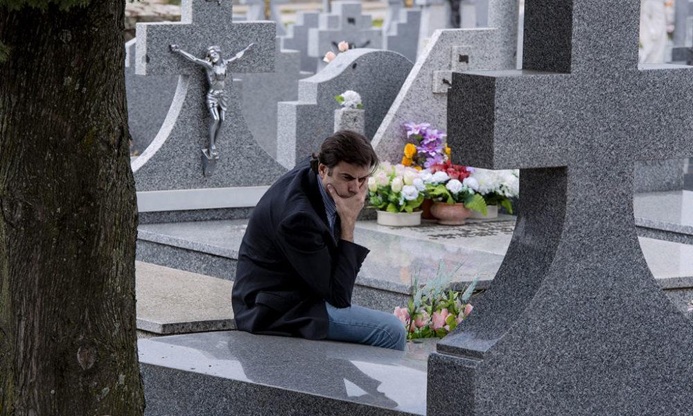 Man grieving a death