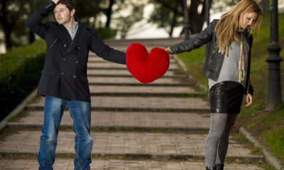 Couple in unhappy relationship