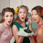 Women in kitchen shocked