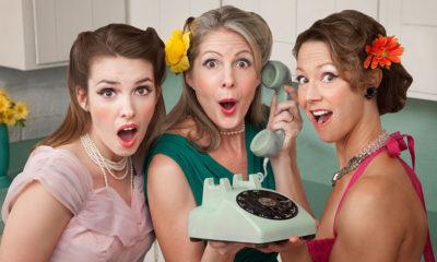 Women crossing a boundary in kitchen