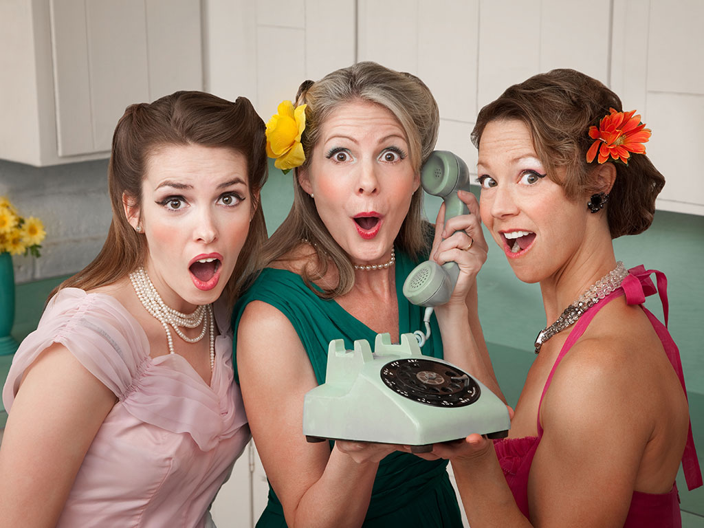 Women in kitchen shocked