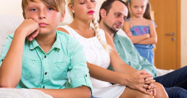 Unhappy family of four