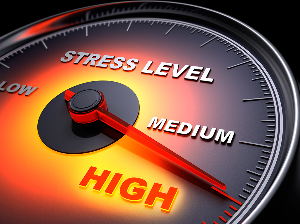 Graphic of stress meter