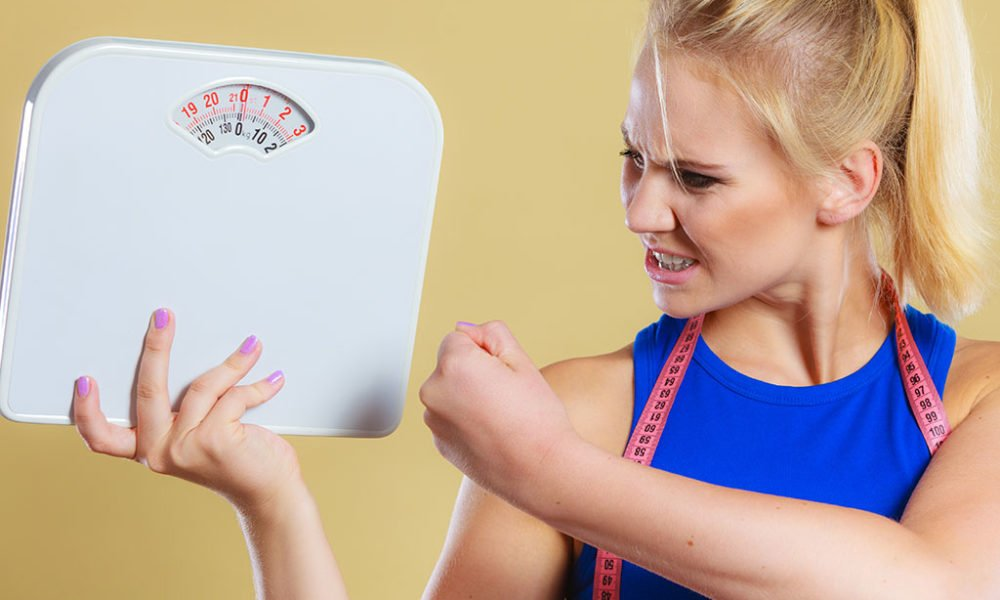 woman overcomes sober weight gain