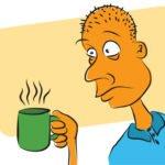 cartoon of sleepless man
