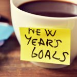 cup of coffee with New Years Goals