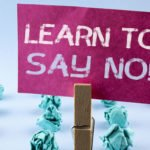 Learn to say no sign