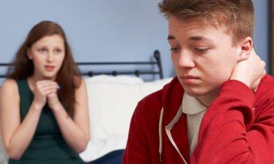 Teens having tough conversation