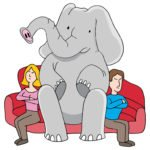 Elephant on the couch