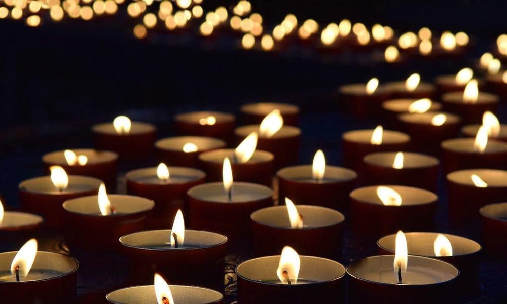 Candles lit for Memorials
