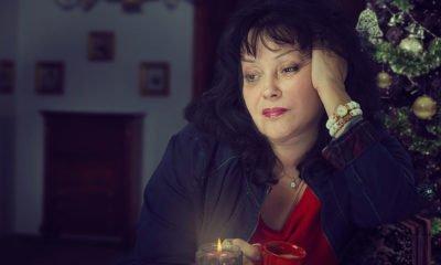 sad woman at Christmas