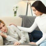 Friend comforting friend