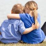 Kids hugging, healing from abuse