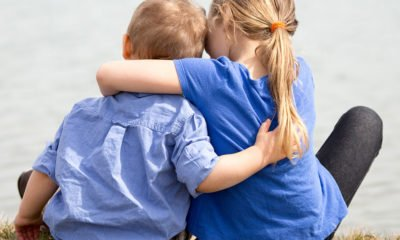 Kids hugging, healing from abuse