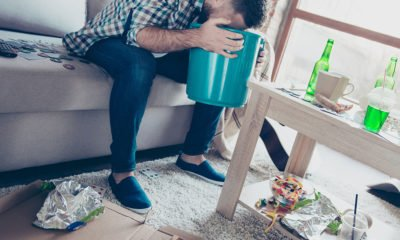 Man sick from binge drinking
