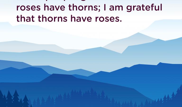 Gratitude Quotes: We're Grateful Thorns Have Roses