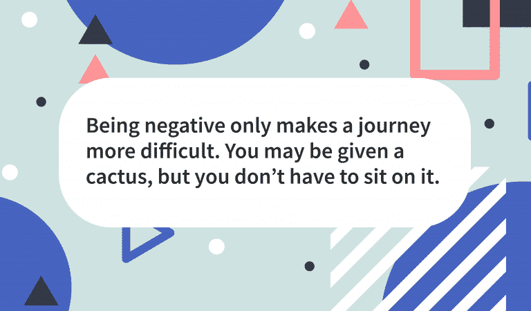 Quote Negativity Holds You Back