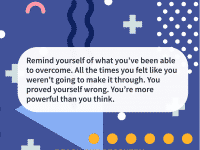Quote of the day reminder of overcoming