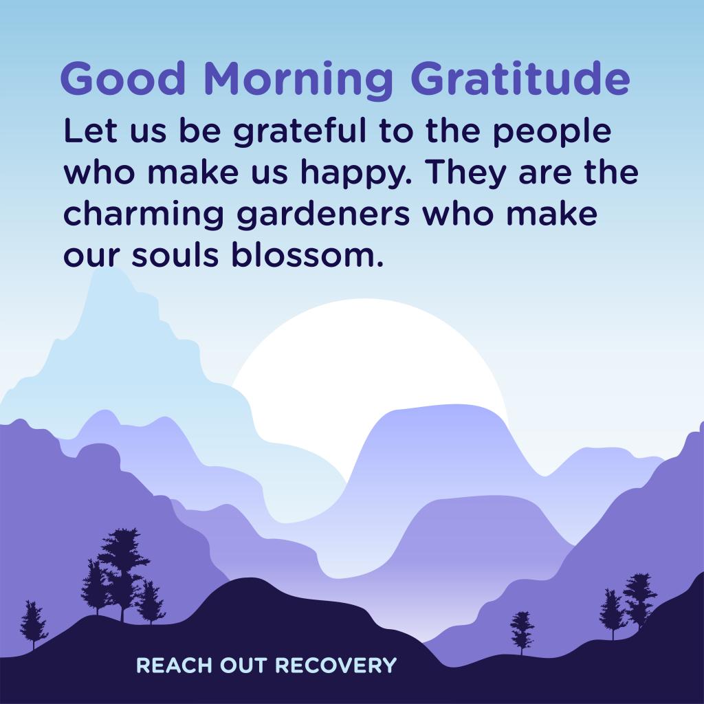 Good morning Gratitude happy