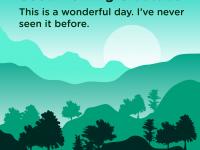 Good morning Gratitude wonderful day