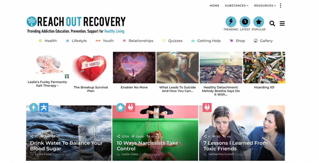 Reach Out Recovery Website