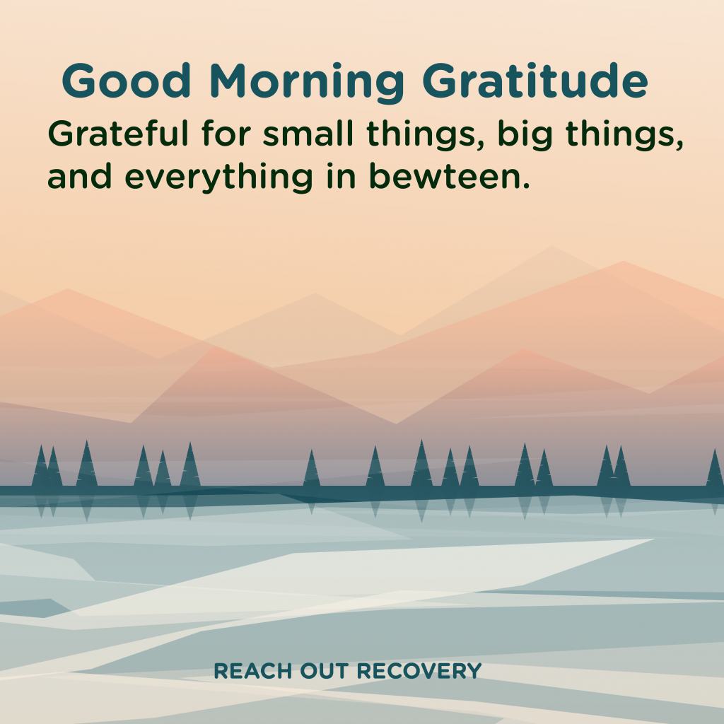 Good morning Gratitude All things
