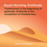 Good morning Gratitude thankfulness