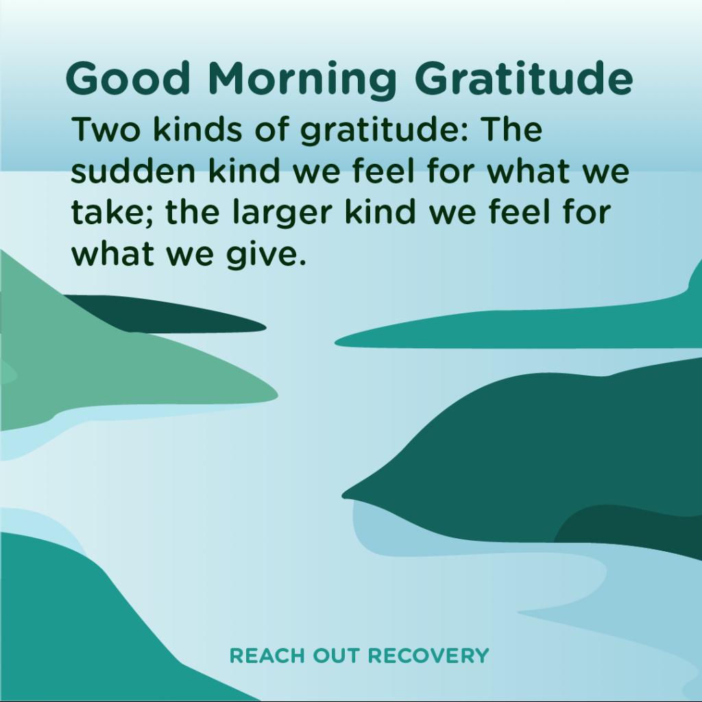 Good morning Give