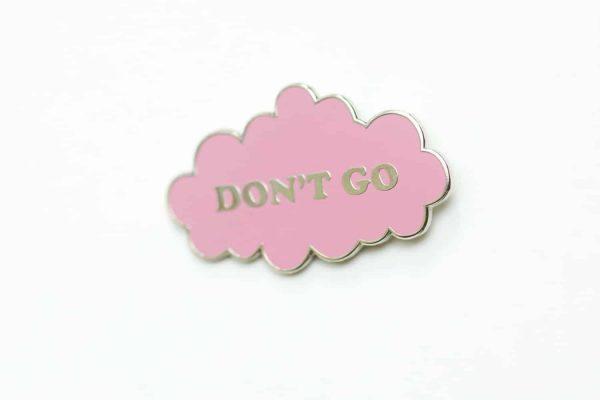 pink cloud enamel pin