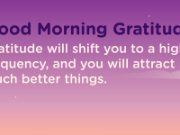 Good morning Gratitude frequency