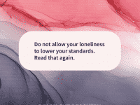 Quote of the day lonely