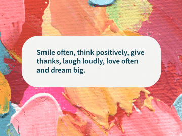Quote of the day smile