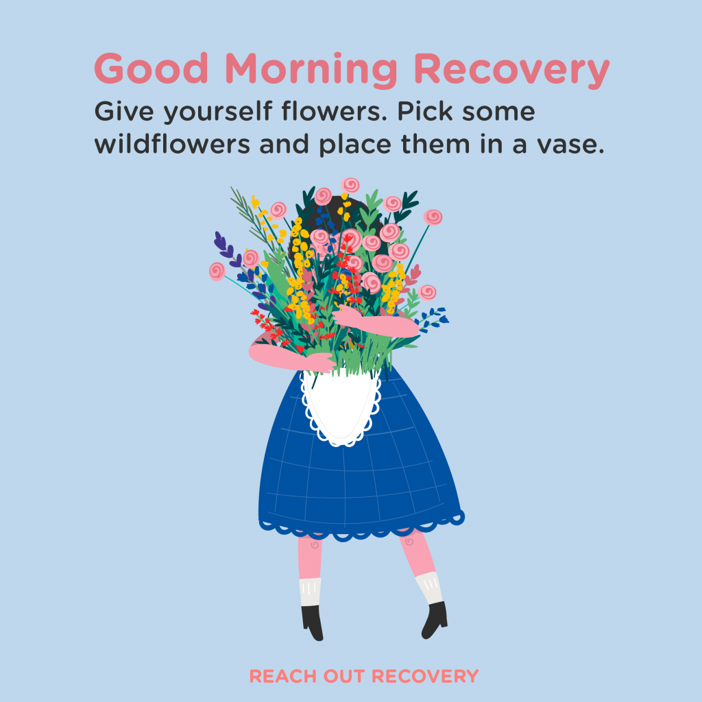 Good Morning Recovery wild flowers