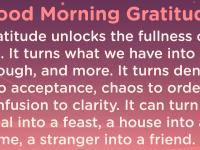 Good morning Gratitude fullness