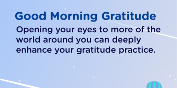 Good morning Gratitude world