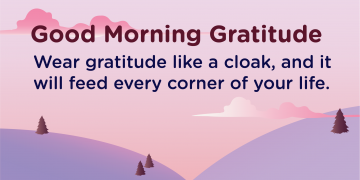 Good morning Gratitude wear