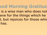 Good morning Gratitude wise