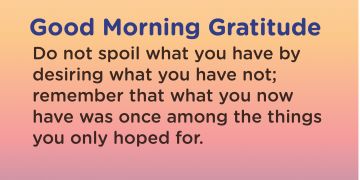 Good morning Gratitude spoil