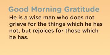 Good morning Gratitude wise
