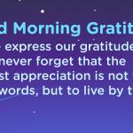 Good morning Gratitude express